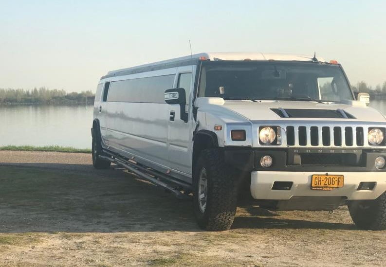 Spannende stripshow in een hummer limo